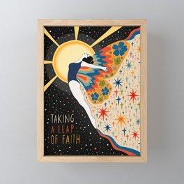 Taking a leap of faith Framed Mini Art Print