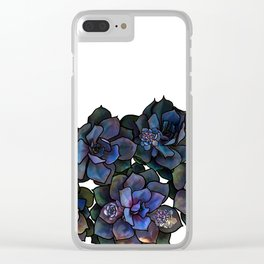 Succulents IIII Clear iPhone Case