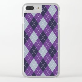 Purple Argyle Clear iPhone Case