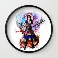 returns Wall Clocks featuring Alice madness returns by ururuty