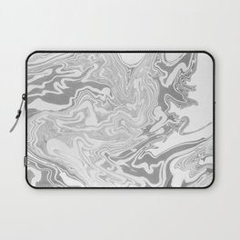 Gray Marble paper Laptop Sleeve