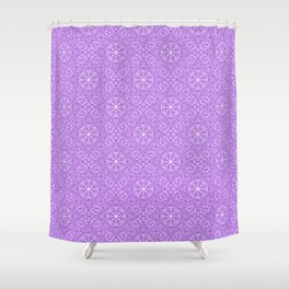 """Magnolia ~ Orchid Purple"" - (Original Digital Artwork by Vincent Ferraro) Shower Curtain"