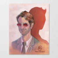 daredevil Canvas Prints featuring Daredevil by MagzArt