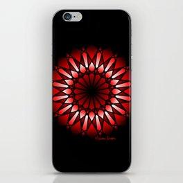 Burnt Umber Wonder Mandala iPhone Skin