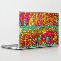 hakuna Laptop & iPad Skins featuring Hakuna Color by Diego Tirigall