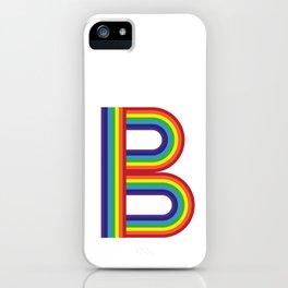 Rainbow Monogram - Letter B iPhone Case