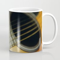 guitar Mugs featuring Guitar by Bruce Stanfield