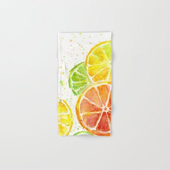 Fruit Watercolor Citrus Hand & Bath Towel