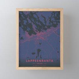 Lappeenranta, Finland - Neon Framed Mini Art Print