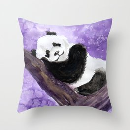 Panda bear sleeping Throw Pillow