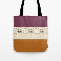 striped Tote Bags featuring Striped by Bruna Zanardo