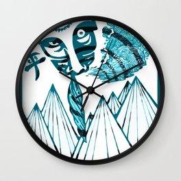 Tiki Take A Hit Wall Clock