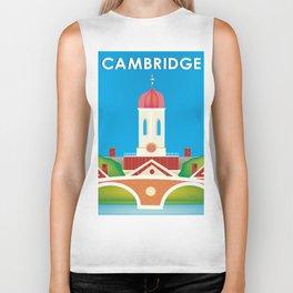 Cambridge, Massachusetts - Skyline Illustration by Loose Petals Biker Tank
