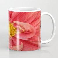 dahlia Mugs featuring Dahlia by KunstFabrik_StaticMovement Manu Jobst