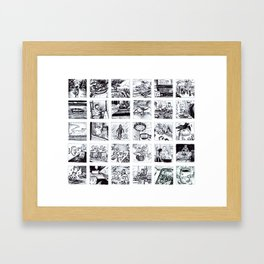Daily Diary Framed Art Print