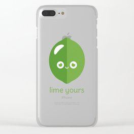Lime Yours Clear iPhone Case