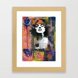 Hearts and Roses Framed Art Print