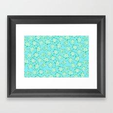 Wallflower - Tea Teal Framed Art Print