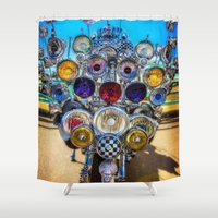 mod Shower Curtains featuring Mod Scooter by Chris Lord