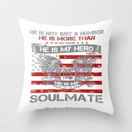 He is my Hero - Soulmate Throw Pillow