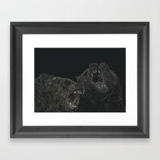 bears in pairs Framed Art Print