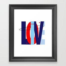 LOVE LIVE LOVE Framed Art Print