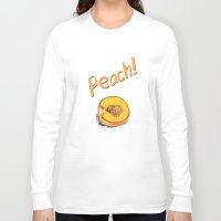 peach Long Sleeve T-shirts featuring Peach by Ken Coleman