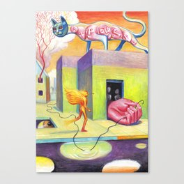 The Dream of the Black Wire Canvas Print