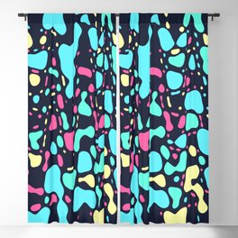 Cosmos, abstract colorful space print Blackout Curtain