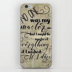 A Court of Mist and Fury Inspired, Master of Everything iPhone Skin