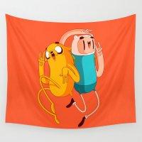 jake Wall Tapestries featuring Finn & Jake by Daniel Mackey