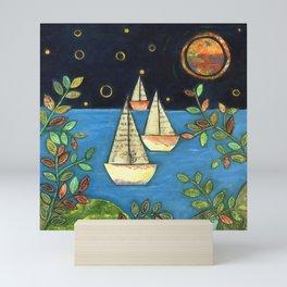 Calm at the Sea by Elizabeth Claire Mini Art Print