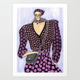 The New Kate – Spring 2019 – Original Fashion art, Fashion Illustration, Fashion wall art Art Print