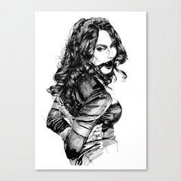 Playful Girl.  INK ART. Yury Fadeev© Canvas Print