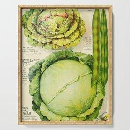 Vintage Vegetable Advertisement (1907) Serving Tray