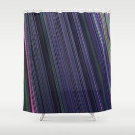Fractal Linear Violet Shower Curtain