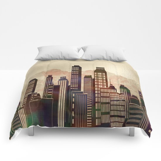 Metal City - beige Comforters