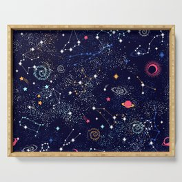 Space print Serving Tray