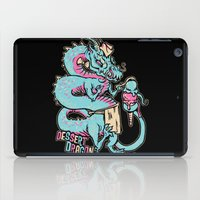 dessert iPad Cases featuring Dessert Dragon by Heartjack