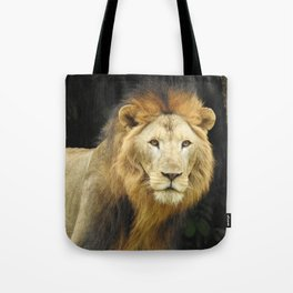 Lion the King of Beasts Tote Bag