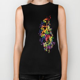 Colorful feather Biker Tank