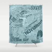 college Shower Curtains featuring college  by MadCat