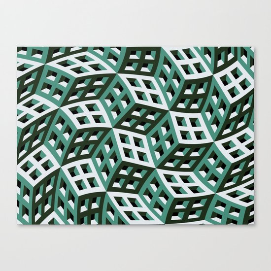 Abstract twisted cubes Canvas Print