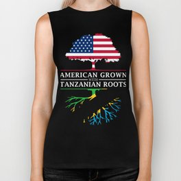 American Grown with Tanzanian Roots   Tanzania Design Biker Tank