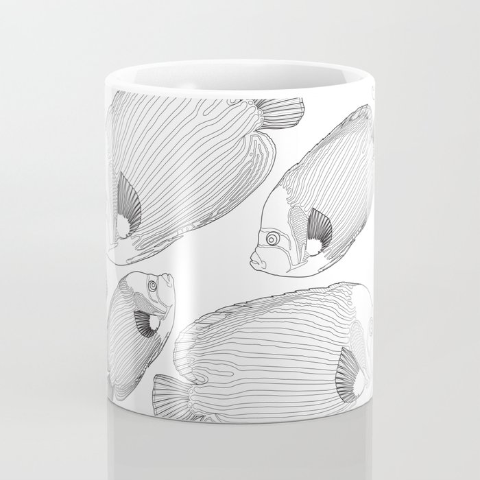 Emperor Fish Patterns Coffee Mug