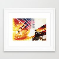 fallout Framed Art Prints featuring Fallout by Jared Plock