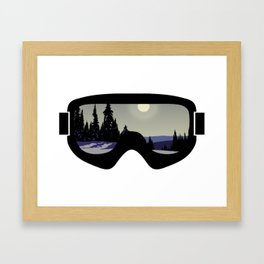 Morning Goggles Framed Art Print