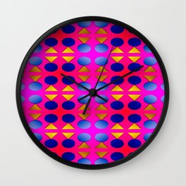Dots, light, triangles and pattern ... Wall Clock