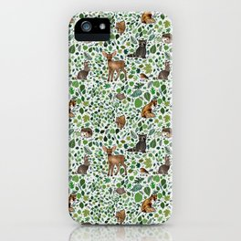Woodland Animal Friends iPhone Case