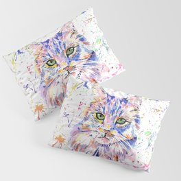 Cat feline Kitty Kat Rainbow art Pillow Sham